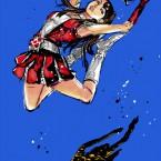 【ももクロ赤】ジョジョ風な百田夏菜子のえびぞりジャンプ!【画像】