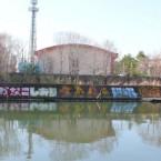 【ももクロ】大阪城公園近くの川の壁に「れにかなこしおり」のグラフィティが描かれる【画像まとめ】